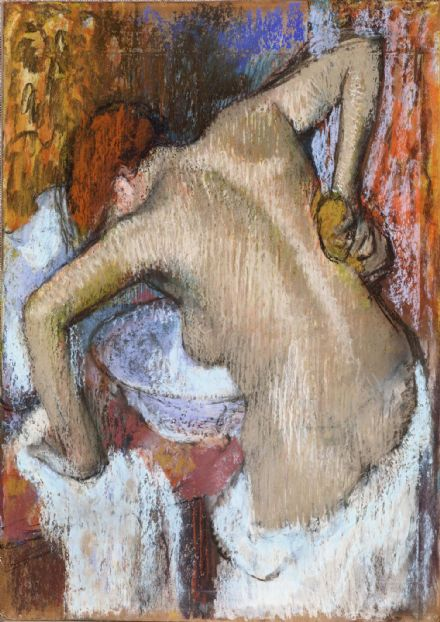 Degas, Edgar: Woman Sponging Her Back. Fine Art Print/Poster. Sizes: A4/A3/A2/A1 (003780)